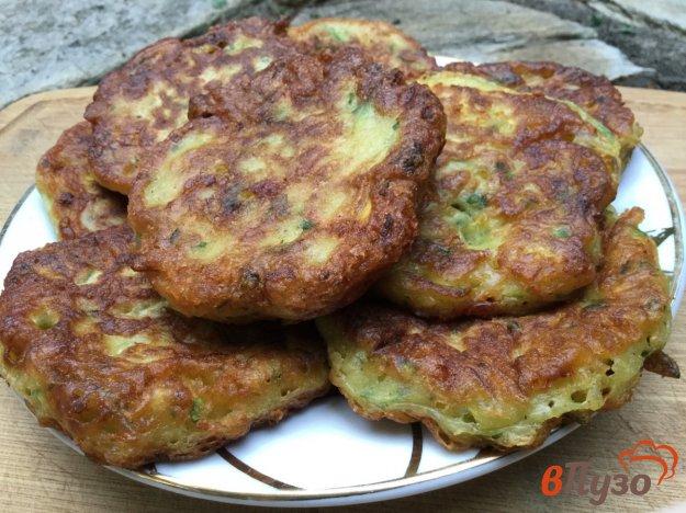 фото рецепта: Сырно-кабачковые оладьи