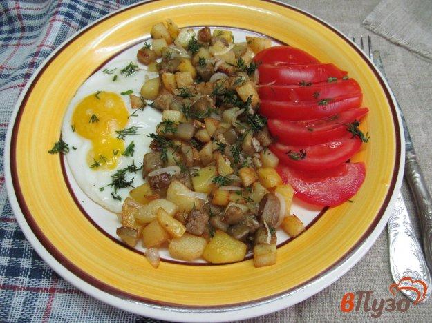 фото рецепта: Жареный картофель с намеком на грибы
