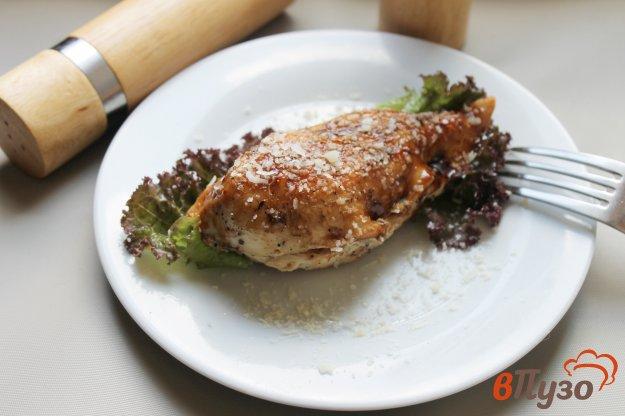 фото рецепта: Куриная грудка фаршированная лососем