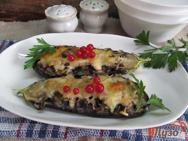 фото рецепта: Фаршированные баклажаны под сырной корочкой
