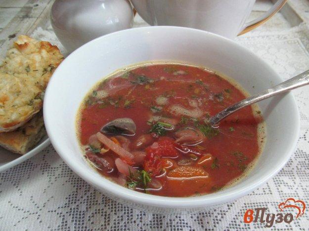 фото рецепта: Фасолевый суп со свеклой и томатом