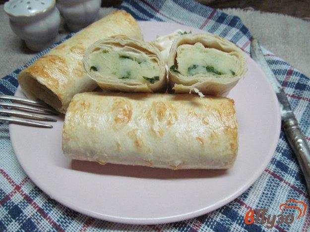 фото рецепта: Слоеные трубочки с картофелем