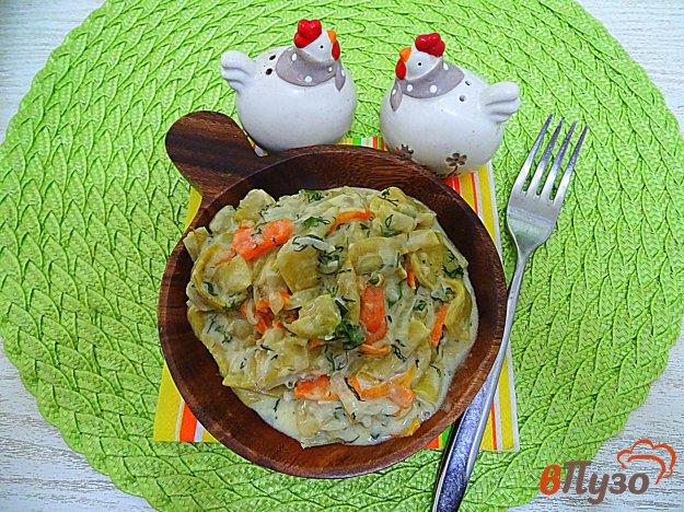фото рецепта: Фасоль стручковая в сметанно- чесночном соусе соусе