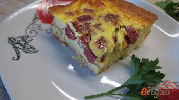 фото рецепта: Пирог с колбасой