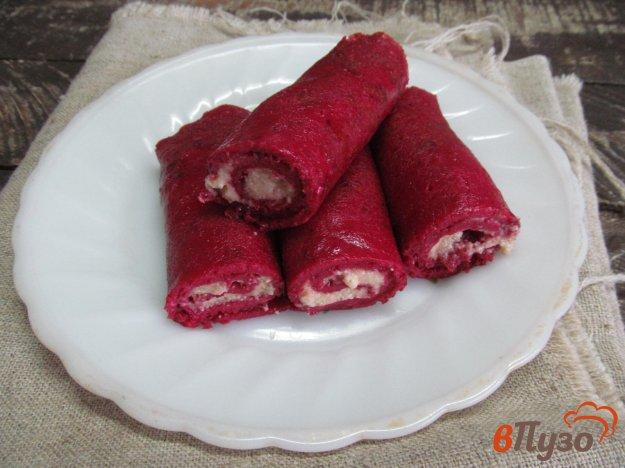 Вкусные Свекольные блины с икрой трески рецепт с пошагым фото