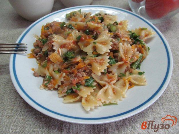 фото рецепта: Паста под мясным соусом с фасолью