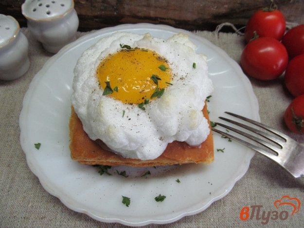 фото рецепта: Бутерброд с воздушным яйцом