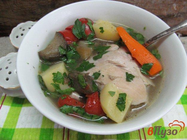 фото рецепта: Куриный окорочок с овощами