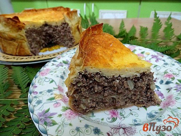 фото рецепта: Пирог из лаваша с субпродуктами