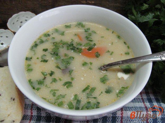 фото рецепта: Суп с шампиньоном и горчичным соусом