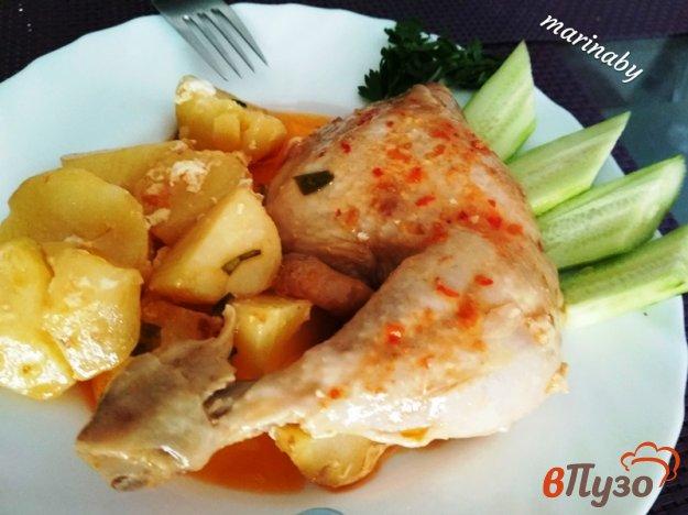 фото рецепта: Куриные окорочка в мультиварке