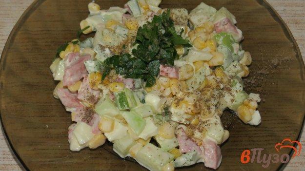 фото рецепта: Салат  с колбасой и овощами