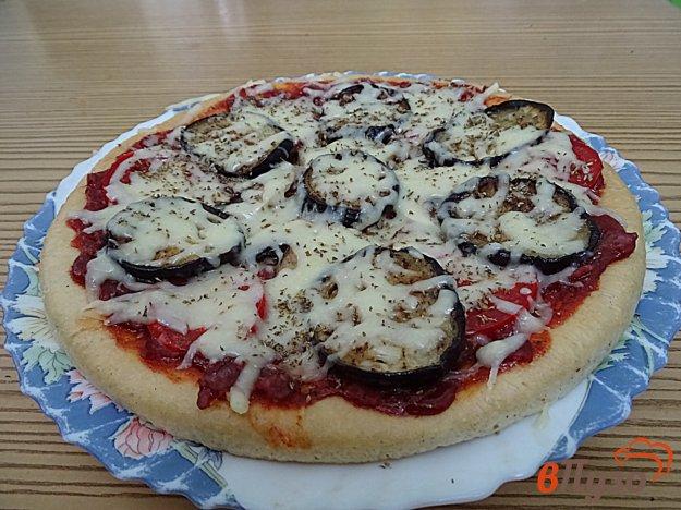 фото рецепта: Пицца с баклажанами на готовой основе
