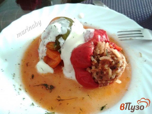 фото рецепта: Болгарский перец фаршированный мясом и рисом