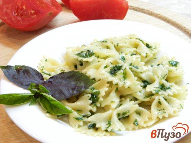 фото рецепта: Паста со сливочным маслом и зеленью