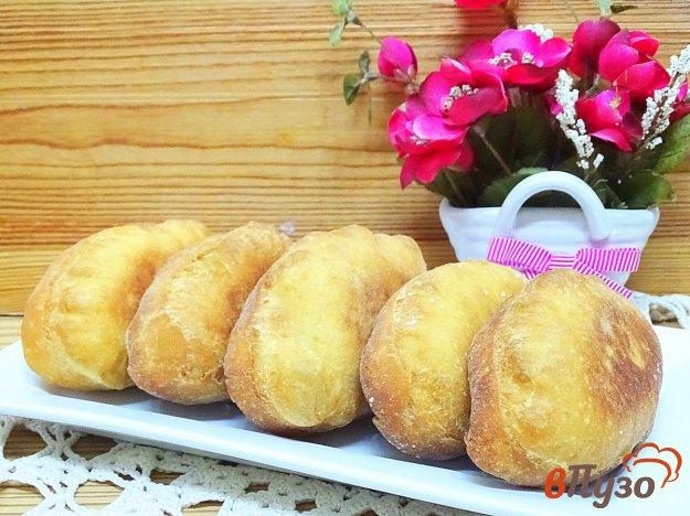 фото рецепта: Пирожки с капустой на кефире, жареные