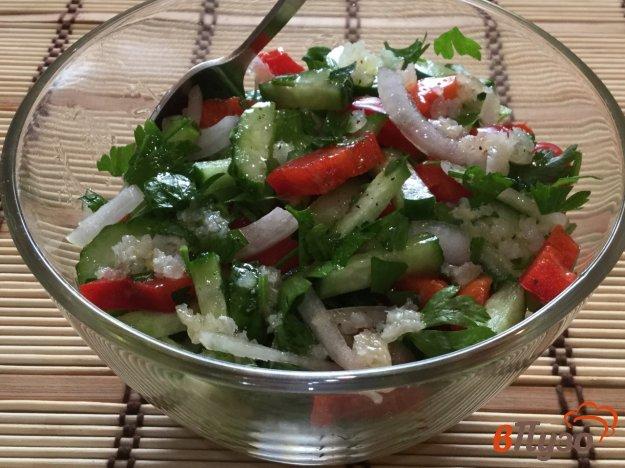 фото рецепта: Огуречный салат с болгарским перцем