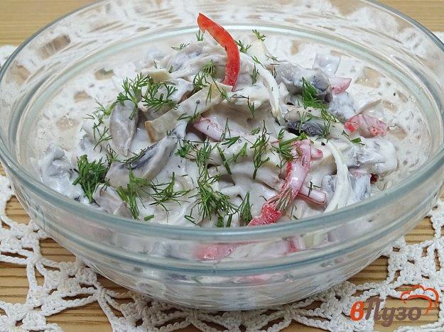фото рецепта: Салат из шампиньонов с овощами
