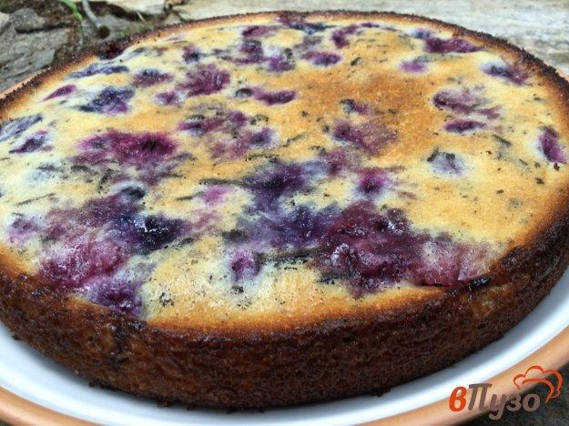 фото рецепта: Черешнево-шоколадный заливной пирог