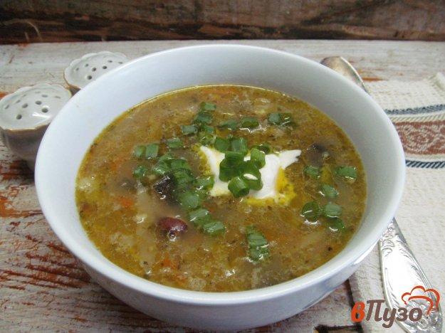 фото рецепта: Суп с квашеной капустой и фасолью