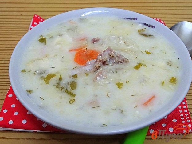 фото рецепта: Куриный суп с вермишелью и сыром