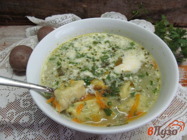 фото рецепта: Суп с ньокки и щавелем