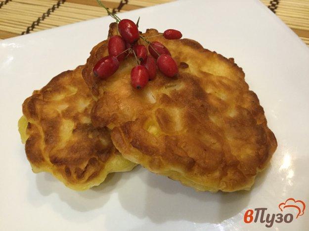 фото рецепта: Оладьи с грушами и яблоками
