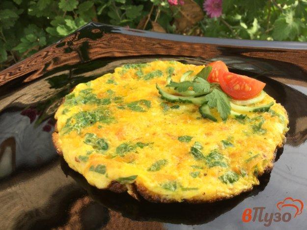 фото рецепта: Омлет с тыквой и зеленью