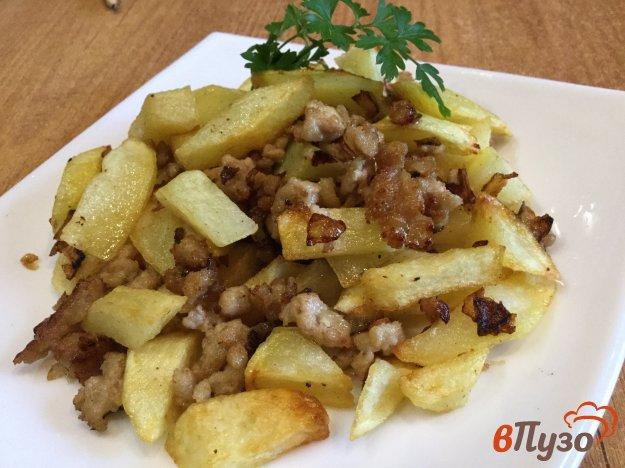 фото рецепта: Жаренный картофель с фаршем