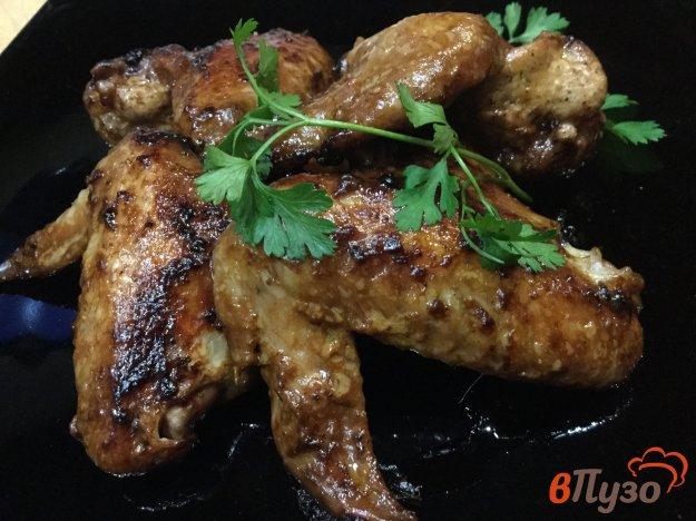 фото рецепта: Куриные крылья в маринаде в мультиварке