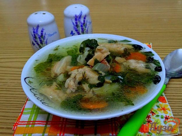 фото рецепта: Суп из брюшек сёмги с овощами