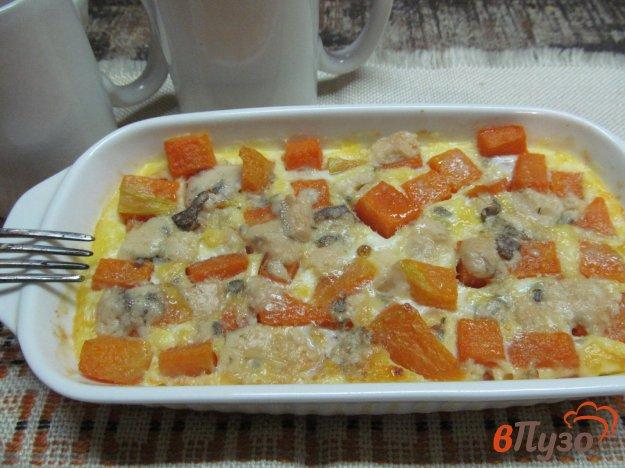 фото рецепта: Запеченная тыква с яйцом и сыром