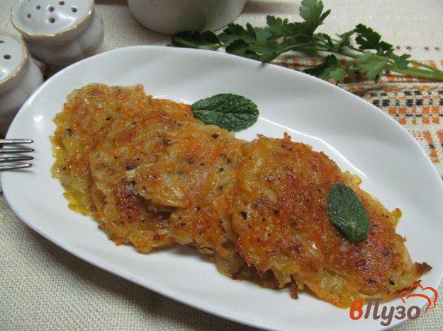 фото рецепта: Оладьи из тыквы и картофеля