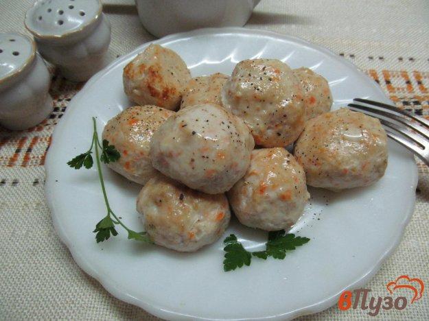 фото рецепта: Биточки из курицы с овощами