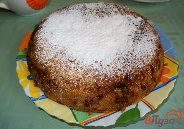 фото рецепта: Постный яблочный насыпной пирог