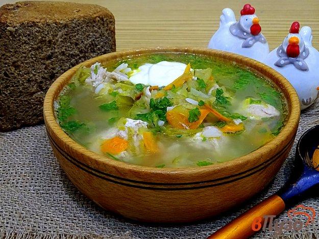 фото рецепта: Рассольник с рисом и огурцами
