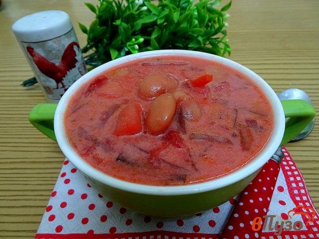 фото рецепта: Борщ без капусты, со сметаной