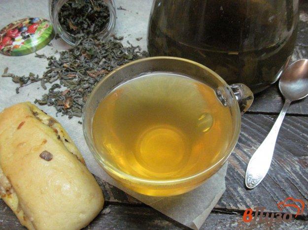 фото рецепта: Зеленый чай с имбирем мятой и цедрой лимона