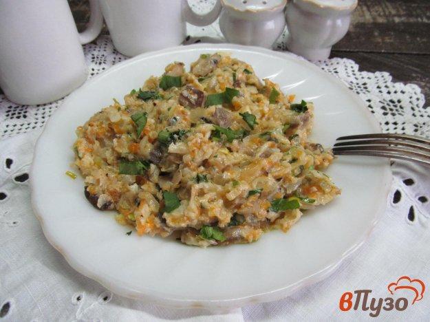 фото рецепта: Цветная капуста с грибами и тыквой