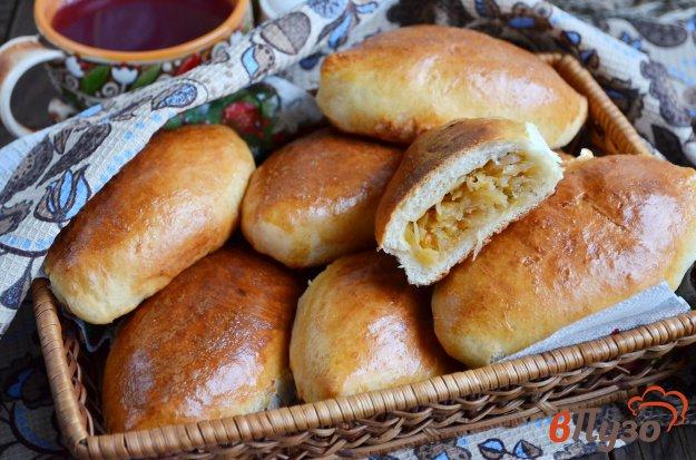 фото рецепта: Пирожки с капустой в духовке
