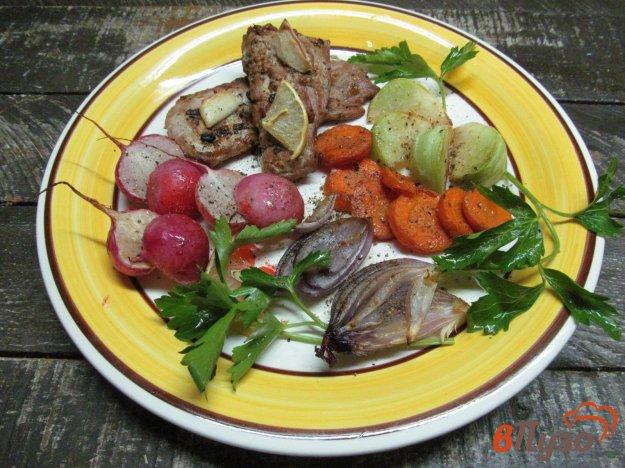 фото рецепта: Свиная вырезка запеченная с овощами