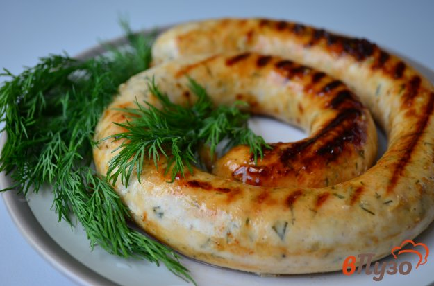 фото рецепта: Куриные колбаски с сыром