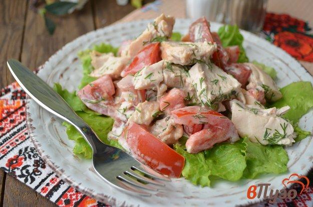 фото рецепта: Куриный салат с помидорами