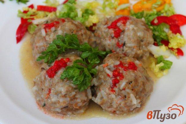 фото рецепта: Тефтели из говядины и овощей