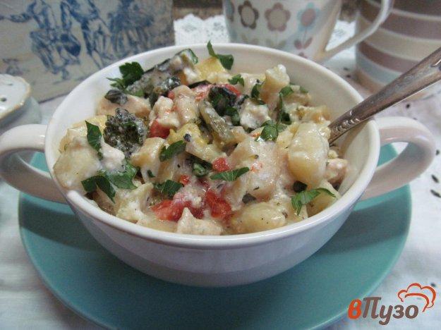 фото рецепта: Курица с овощами под сливочным соусом