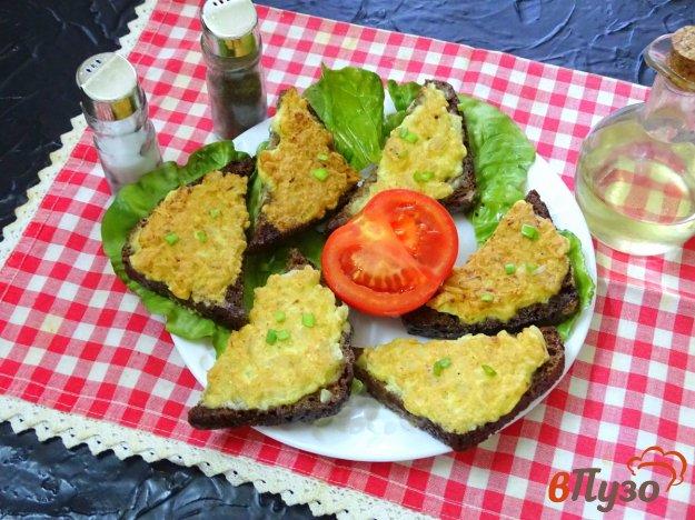 фото рецепта: Бутерброды с луком и яйцом