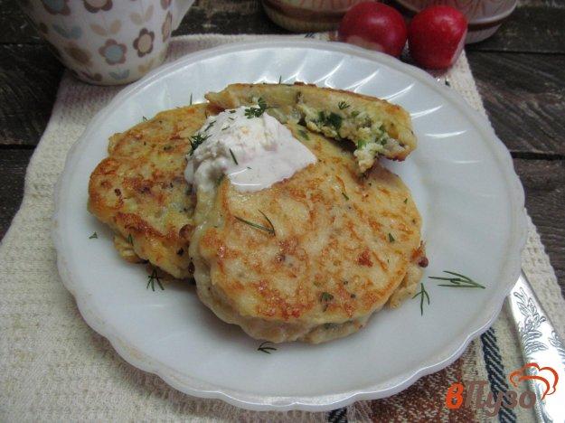 фото рецепта: Картофельные зразы с яйцом болтунья