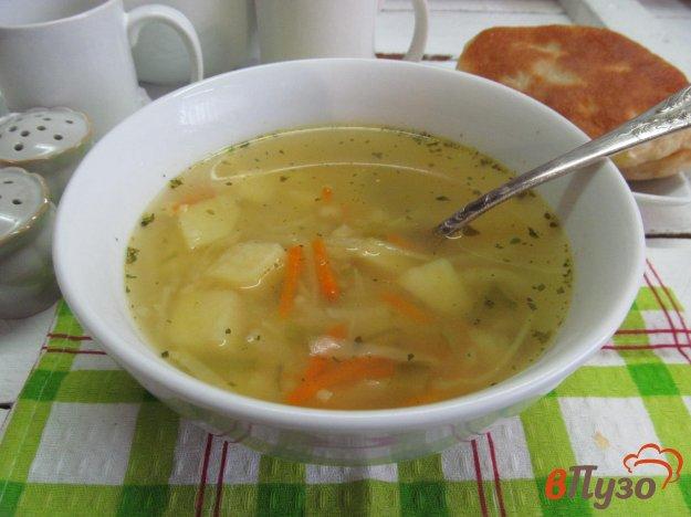 фото рецепта: Овощной суп на курином бульоне с пшеничной крупой