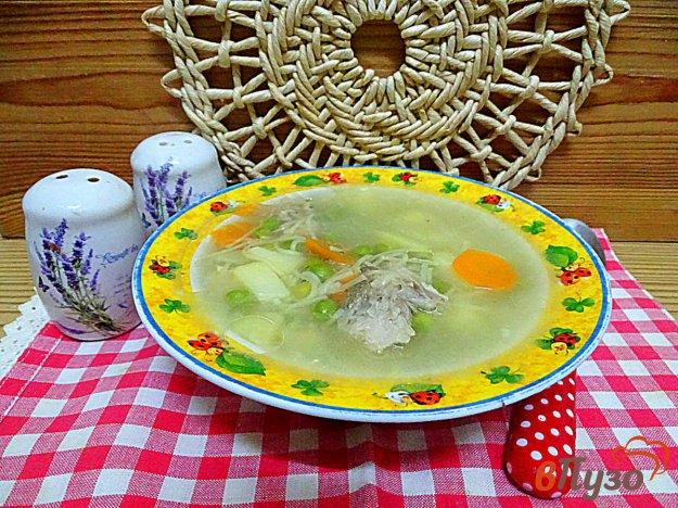 фото рецепта: Суп с вермишелью и горошком