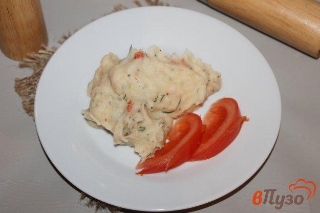 фото рецепта: Картофельное пюре с томатами и беконом